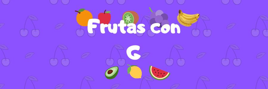 frutas por g