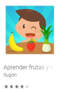 app aprender frutas y verduras niños